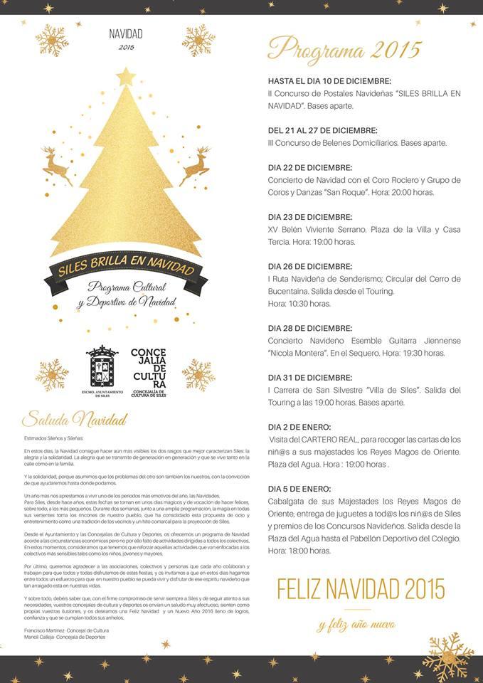 programa navidad . siles 2015